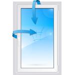Одностворчатое пластиковое окно с поворотно-откидной створкой