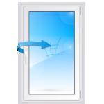Одностворчатое пластиковое окно с поворотной створкой