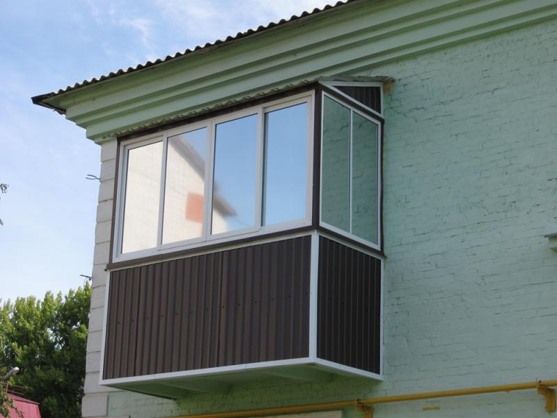 Фасадные балконы.