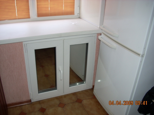 Шкаф на балкон хрущевки..