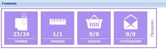 Панель продаж на ОКНА.РФ