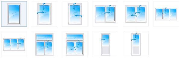 Типовые окна